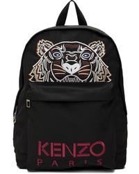 Kenzo Black Canvas Kampus Tiger Backpack