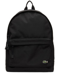 Lacoste Black Canvas Small Neocroc Backpack