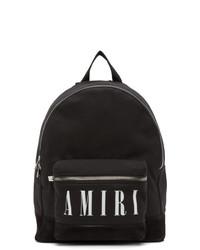 Amiri Black Core Logo Backpack