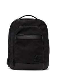 Salvatore Ferragamo Black Econyl Sf Backpack