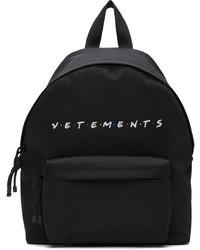 Vetements Black Friendly Logo Backpack