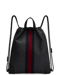 Gucci Black Gg Supreme Zaino Backpack