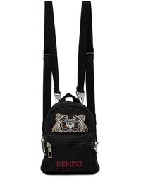 Kenzo Black Mini Kampus Tiger Backpack