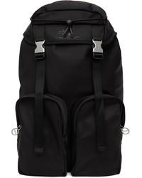 Diesel Black Satin Thai Backpack