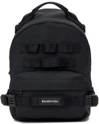 Balenciaga Black Small Multicarry Army Backpack