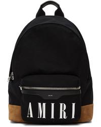 Amiri Black Tan Canvas Classic Backpack