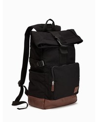 Old Navy Canvas Roll Top Backpack For