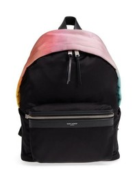 Saint Laurent City Ombre Print Satin Backpack