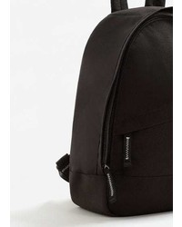 Mango Contrast Appliqu Canvas Backpack