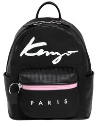 Kenzo Essentials Canvas Leather Backpack