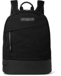 WANT Les Essentiels Kastrup Leather Trimmed Organic Cotton Canvas Backpack