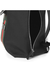 9ba6428ff Gucci Leather And Nylon Canvas Backpack, $1,380 | MR PORTER ...