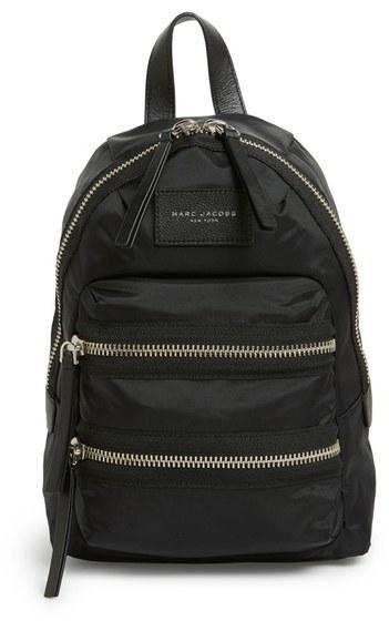 Marc Jacobs Mini Biker Nylon Backpack Black