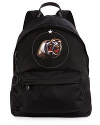 Givenchy Monkey Brothers Nylon Backpack Black