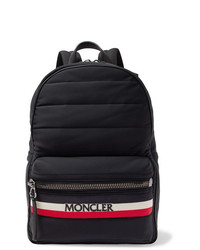 Moncler New George Webbing And Leather Trimmed Quilted Shell Backpack