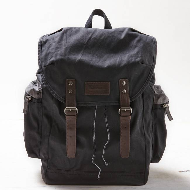 American Eagle Outfitters Navy Blue Canvas Buckled Backpack Bookbags One Size