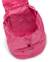 prada vernice flower - prada red cloth backpack
