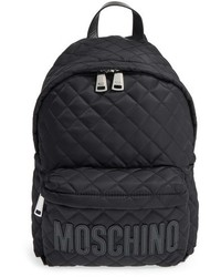 Moschino Quilted Nylon Logo Backpack Black