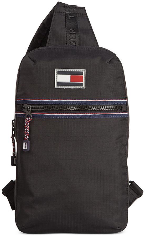 Tommy Hilfiger Ripstop Nylon Sling Bag 108 Macy S Lookastic Com