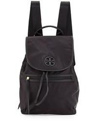 Tory Burch Slouchy Nylon Backpack Black