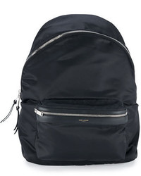 Solid nylon backpack black medium 682058