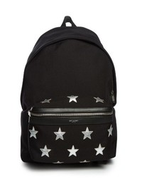 Saint Laurent Star Embellished Canvas Backpack