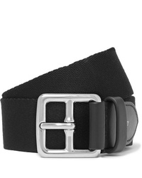 Mulberry 3cm Black Canvas And Leather Belt