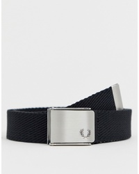 Fred Perry Solid Webbing Belt In Black
