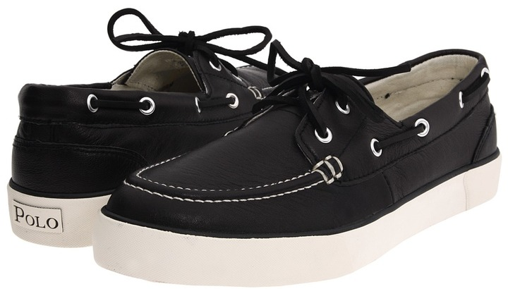 ... Black Canvas Boat Shoes Polo Ralph Lauren Sander ...