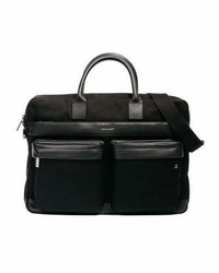 Canvas casual briefcase black medium 6983144