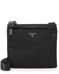 Vela flat crossbody bag black medium 240926