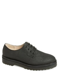 Black Canvas Derby Shoes