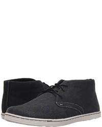 Black Canvas Desert Boots