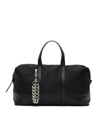 Kara Black Leather Duffle Bag