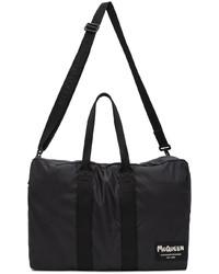 Alexander McQueen Black Tag Zipped Duffle Bag