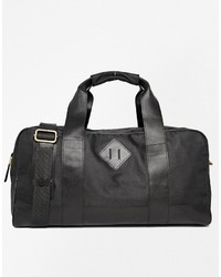 Asos Brand Leather And Nylon Carryall