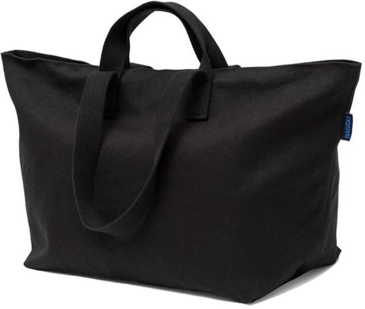 Canvas Weekender Black Duffle Bag By Baggu