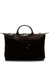 De la vie black canvas leather hartsfield weekender bag medium 57736