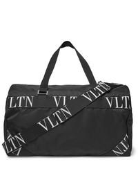 Valentino Logo Webbing Trimmed Nylon Duffle Bag