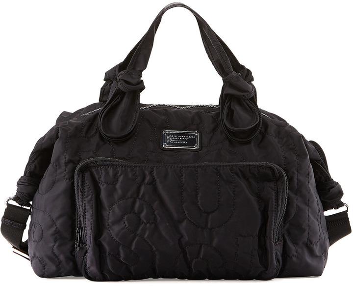 378 Marc By Jacobs Pretty Nylon Weekender Bag Black
