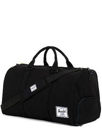 Herschel Supply Co The Novel Heavy Canvas Duffle Bag In Black