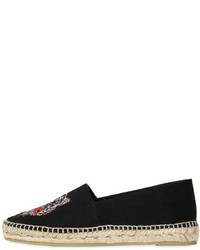 Kenzo 20mm Tiger Cotton Canvas Espadrilles