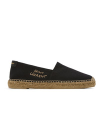 Saint Laurent Black Espadrilles