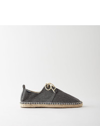 Soludos Derby Lace Up Washed Canvas