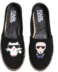 Karl Lagerfeld Karl Choupette Cotton Espadrilles