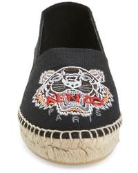 Kenzo Tiger Logo Embroidered Espadrille