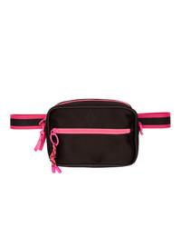Marcelo Burlon County of Milan Black And Pink Cross Bag