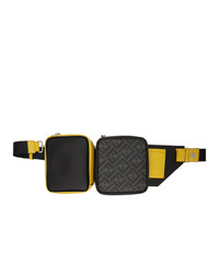 Fendi Black And Yellow Multi Pouch Forever Belt Bag