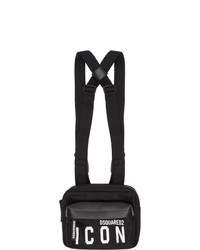 DSQUARED2 Black Mr Icon Belt Bag