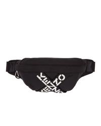 Kenzo Black Sport Logo Belt Bag